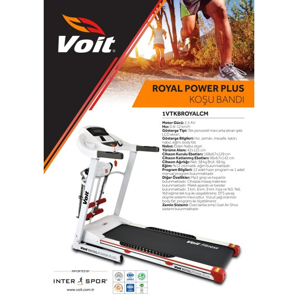 VOİT ROYAL PLUS KOŞU BANDI
