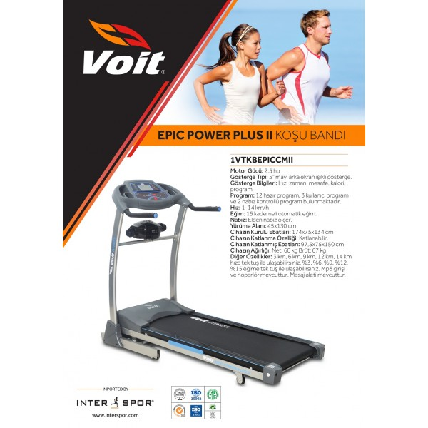 VOİT EPIC II POWER PLUS KOŞU BANDI